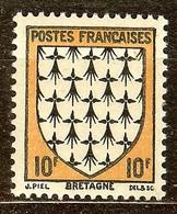 SUPERBE BLASON YT N°573 BRETAGNE NEUF Avec GOMME** - 1941-66 Wappen