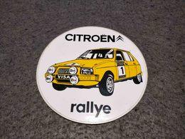 VINTAGE ADVERTISING CITROEN RALLYE 80'S - Autocollants