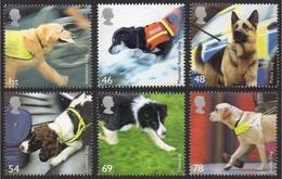 GB 2008 WORKING DOGS SET MNH - 1952-.... (Elizabeth II)