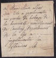 """1810. PUERTO STA MARÍA A INGELMUNSTER. """"Nº I/BAU PRINCIPAL/ARM. D'ESPAGNE"""".EXTENSO TEXTO EN FLAMENCO. DESINFECTADA. - Bolli Militari (ante 1900)"""