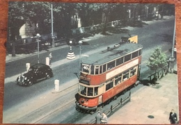E/3 Type Tramcars On The Victoria Embankment During The Last Week Of Tram Operation In London July 1952 - Tram