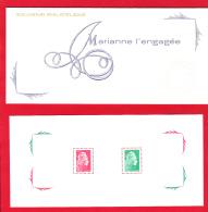 France 2018,  4 Feuillets Réunis Dans Une Carte Souvenir Philatélique / Marianne L'engagée - Sheetlets