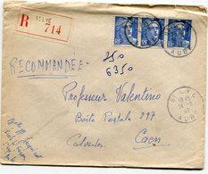 AUBE De SAINT LYE   Env. Recom. De 1947 Avec Dateur A 4 - Marcophilie (Lettres)