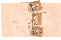 1c.semeuse Camée Surchargé 1/2 X2 +1c.semeuse Camée Sur Bande Journal LA PETITE GIRONDE - Marcophilie (Lettres)
