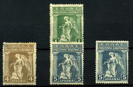 3478- Grecia Nº 259, 267/8 - 1901-02 Mercure Volant & AM