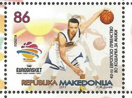 MK 2017-15 EU CHAMPIONSHIP IN BASKETBALL FOR MAN, MACEDONIA MAKEDONIJA, 1 X 1v, MNH - Mazedonien