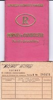 Romania, 1976, Vehicle Driving License / Permit And Penalty Ticket - Documenti Storici