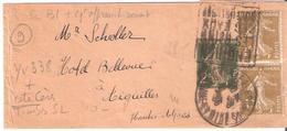 2c.semeuse Camée Sur Entier Bande Journal +1c.semeuse Camée X 2 Oblitéré Daguin ENGHIEN LES BAINS - Marcophilie (Lettres)