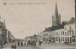 Eeklo La Rue De La Station Et La Grand Place - Eeklo