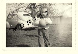 VOITURE AUTOMOBILE RENAULT 4 CV ENFANT - PHOTO D'ORIGINE 12,5x9 Cms - Automobiles
