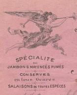 Petite Facture 1909 / A. MELARD / Charcuterie / Spécialité Fumé / 10 Rue De La Gare / 70 Vesoul - Maps
