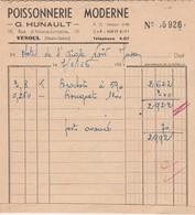 Petite Facture  Poissonnerie Moderne / G. HUNAULT / 10 Rue Alsace Lorraine / 70 Vesoul - Maps