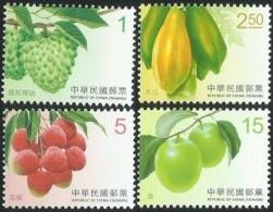 2016 TAIWAN FRUIT REGULAR STAMP 4V - Fruit