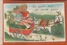 FANTAISIES à Systèmes    à Système  Dépliant   Au Petit Trot En Route Pour Verneuil-sur-Avre  Juil 2018  684 - Dreh- Und Zugkarten