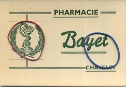Chatelet :  Pharmacie BAYET - Buvards, Protège-cahiers Illustrés