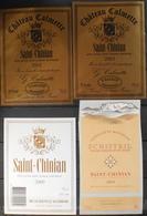 4 ETIQUETTES Différentes De VIN - De SAINT-CHINIAN - En Très Bon Etat - Collezioni & Lotti