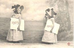 Cartes Postales - Thèmes - Fêtes - Voeux - Nouvel An - 1903-1904 - Tu Ne Seras Pas Meilleure Que Moi - Nouvel An