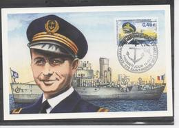 SAINT-PIERRE Et MIQUELON - Commandant Jacques Pépin LEHALLEUR -France-Libre - Contre Amiral - Rattachement De SPM à La F - Cartes-maximum