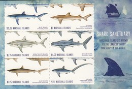 Marshall Islands 2018 Marine Fauna Sharks Minisheet MNH - Vissen