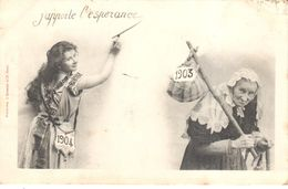 Cartes Postales - Thèmes - Fêtes - Voeux - Nouvel An - 1903-1904 - J'apporte L'espérance - Nouvel An