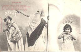 Cartes Postales - Thèmes - Fêtes - Voeux - Nouvel An 1904 - Néant 1903 - L'Impitoyable Temps... - Nouvel An