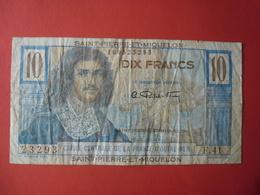 Billet Saint-Pierre-et-Miquelon, 10 Francs, Undated (1950-1960), TB, KM:23 - COLBERT - Francia
