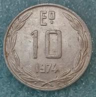 Chile 10 Escudos, 1974 ↓price↓ - Chile