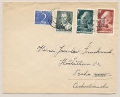Nederland - 1948 - 4 Zegels, Mengfrankering Kind/Zomer Zegels Op Brief Van Amsterdam Naar Ceskoslovensko - Periode 1891-1948 (Wilhelmina)
