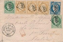 Lettre N°53,55,60 Bourg-la-Reine Hauts-de-Seine Pour Turin - 1849-1876: Période Classique