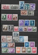 SLOVAQUIE - ANNEES PRESQUES COMPLETES 1943/45 SANS CHARNIERE ** - YT 87/89+94/97+100/127 - COTE = 46 EUR - Neufs