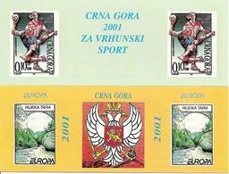 MONTENEGRO, 2001, BOOKLET 1 + 2, Europa - Sport - Montenegro