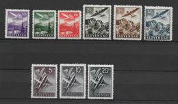 SLOVAQUIE - POSTE AERIENNE COMPLETE 1940 SANS CHARNIERE ** - YT 1/9 - COTE = 20 EUR - Neufs