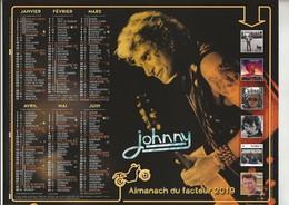 EXCEPTIONNEL  -  JOHNNY HALLYDAY - Almanach Du Facteur 2019  -  Calendrier La Poste (PTT) Oberthur - Calendars