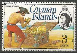 Cayman Is. - 1977 Issue Of  Treasure Chest 3c (chalky Paper) MNH **    SG 412a - Cayman Islands