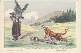 Cpa Illustrateur - Maurice Picaud -  Discours De Clémenceau Au Sénat, Tigre - Illustrators & Photographers