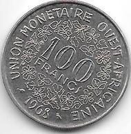 West African State 100 Francs 1968 Km 4  Xf+ - Autres – Afrique