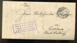 """Deutsches Reich / 1897 / Bf. """"Frei Lt. Avers ....."""", Steg-o Oberkirch (12223) - Deutschland"""