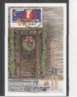 SAINT-PIERRE Et MIQUELON - Noël - Père Noël Coincé Dans Une Cheminée - Religion - Fêtes - - Cartes-maximum