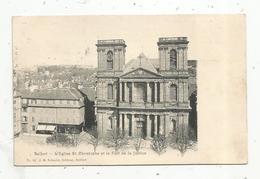 Cp , 90 , BELFORT , L'église SAINT CHRISTOPHE Et Le Fort De La Justice , Voyagée - Belfort - Città
