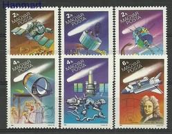 Hungary 1986 Mi 3805-3810 MNH ( ZE4 HNG3805-3810 ) - Astronomy
