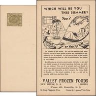 Canada 1951. Entier Postal Timbré Sur Commande. Femme, Hamac, Livre, Confiture, Fruit, Bocaux De Verre - Fruits