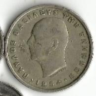 Pièce De Monnaie - Grèce - 5 Drachmes - 1954 - Grecia