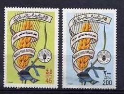 LIBYE 1989, ANNEE MONDIALE ALIMENTATION, BLE, 2 Valeurs, Neufs / Mint. R289 - Contro La Fame