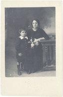Cpa 20 – Carte-photo Moretti, Bastia, Femme & Son Enfant - Bastia
