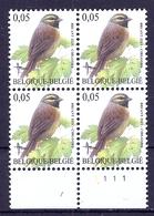 BELGIE * Buzin * Nr 3379 Pl1 * Postfris Xx * HELDER WIT  PAPIER - 1985-.. Vögel (Buzin)