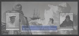 IOM, ISLE OF MAN, 2016, MNH, ANTARCTICA, POLAR EXPEDITIONS, SHIPS, ENDURANCE, CPT. WORSLEY, S/SHEET - Antarctic Expeditions