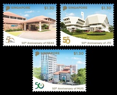 Singapore 2018 Mih. 2519/21 Institutions. Institute Of Studies. Property Company. Islamic Religious Council MNH ** - Singapore (1959-...)