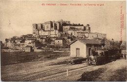 Cpa 26 – Grignan – Château – … Le Tramway En Gare - Grignan