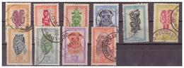 CONGO BELGA - 1947 - ARTIGIANATO E MASCHERE. ALCUNI VALORI. VFU - 1947-60: Usati