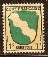 SUPERBE BLASON ZONE FRANCAISE BRIEFPOST 1PF NEUF Avec GOMME** - 1941-66 Armoiries Et Blasons